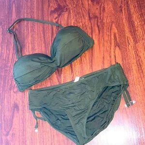Anne Cole dark green bikini size Medium